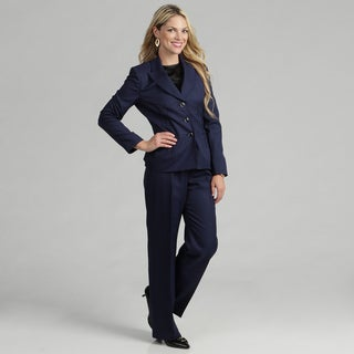 Evan Picone Women's 3-button Starburst Jacket Pant Suit