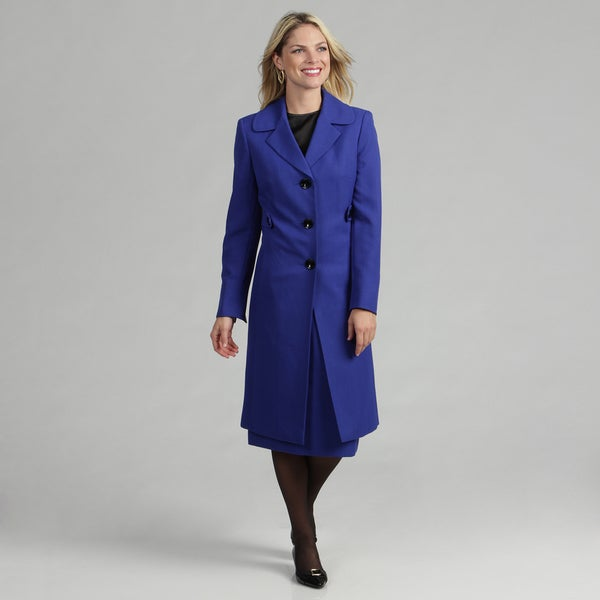 Evan Picone Women's Duster Coat Skirt Suit FINAL SALE
