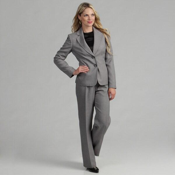 Evan Picone Women's 2-button Tweed Pant Suit