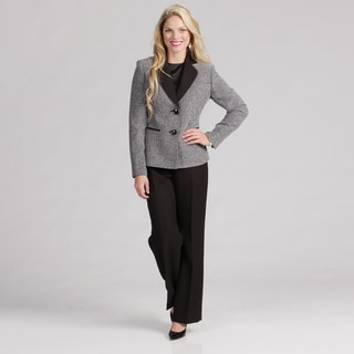 Evan Picone Women's 2-button Notch Collar Pant Suit