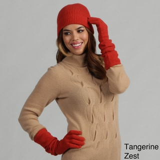Oliver & James Cashmere Beanie Hat and Glove Set