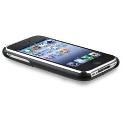 BasAcc Black Carbon Chrome Snap-on Case for Apple iPhone 3G/ 3GS