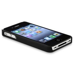BasAcc Black/ Chrome Hole Rubber Coated Case for Apple iPhone 4/ 4S