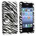 BasAcc White/ Black Zebra Snap-on Case for Apple iPhone 4/ 4S