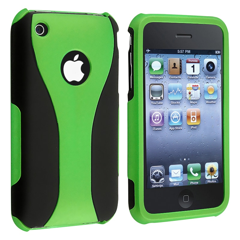 BasAcc Green/ Black Cup Shape Snap-on Case for Apple iPhone 3G/ 3GS