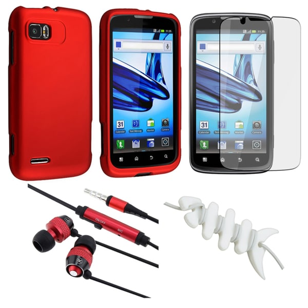 BasAcc Red Case/ Protector/ Headset/ Wrap for Motorola MB865 Atrix 2