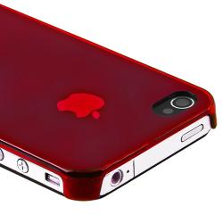 BasAcc Red Slim-fit Snap-on Case for Apple iPhone 4/ 4S