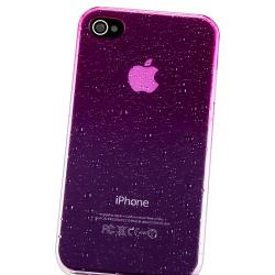 INSTEN Clear Hot Pink Water Drop Snap-on Phone Case Cover for Apple iPhone 4/ 4S