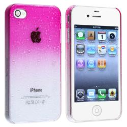 BasAcc Clear Hot Pink Water Drop Snap-on Case for Apple iPhone 4/ 4S