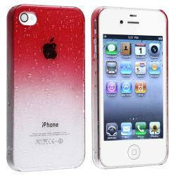 BasAcc Clear Red Water Drop Snap-on Case for Apple iPhone 4/ 4S