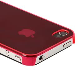 BasAcc Clear Pink Slim-fit Snap-on Case for Apple iPhone 4/ 4S