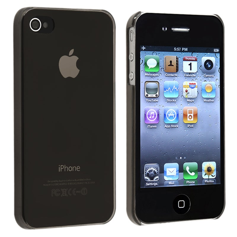 BasAcc Clear Smoke Slim-fit Snap-on Case for Apple iPhone 4/ 4S