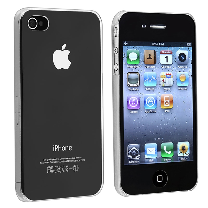 INSTEN Clear Slim-fit Snap-on Phone Case Cover for Apple iPhone 4/ 4S