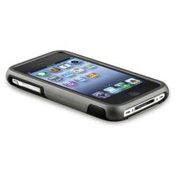 BasAcc Grey Cup Shape Rubber Coated Case for Apple iPhone 3G/ 3GS