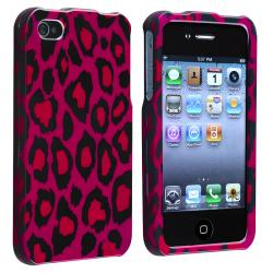 BasAcc Hot Pink Leopard Snap-on Case for Apple iPhone 4/ 4S