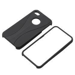 BasAcc Black/ Black Cup Shape Snap-on Case for Apple iPhone 4/ 4S