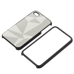 BasAcc Silver Triangle Aluminum Snap-on Case for Apple iPhone 4/ 4S