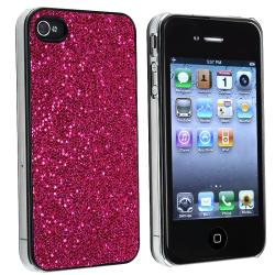 BasAcc Hot Pink Bling Snap-on Case for Apple iPhone 4/ 4S