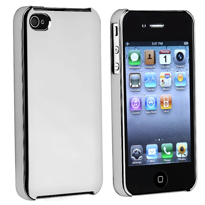 BasAcc Chrome Silver Slim-fit Snap-on Case for Apple iPhone 4/ 4S