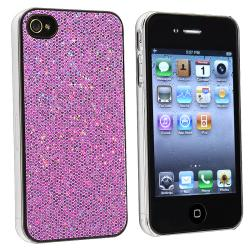BasAcc Light Purple Bling Snap-on Case for Apple iPhone 4/ 4S