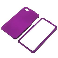 BasAcc Dark Purple Snap-on Rubber Coated Case for Apple iPhone 4/ 4S