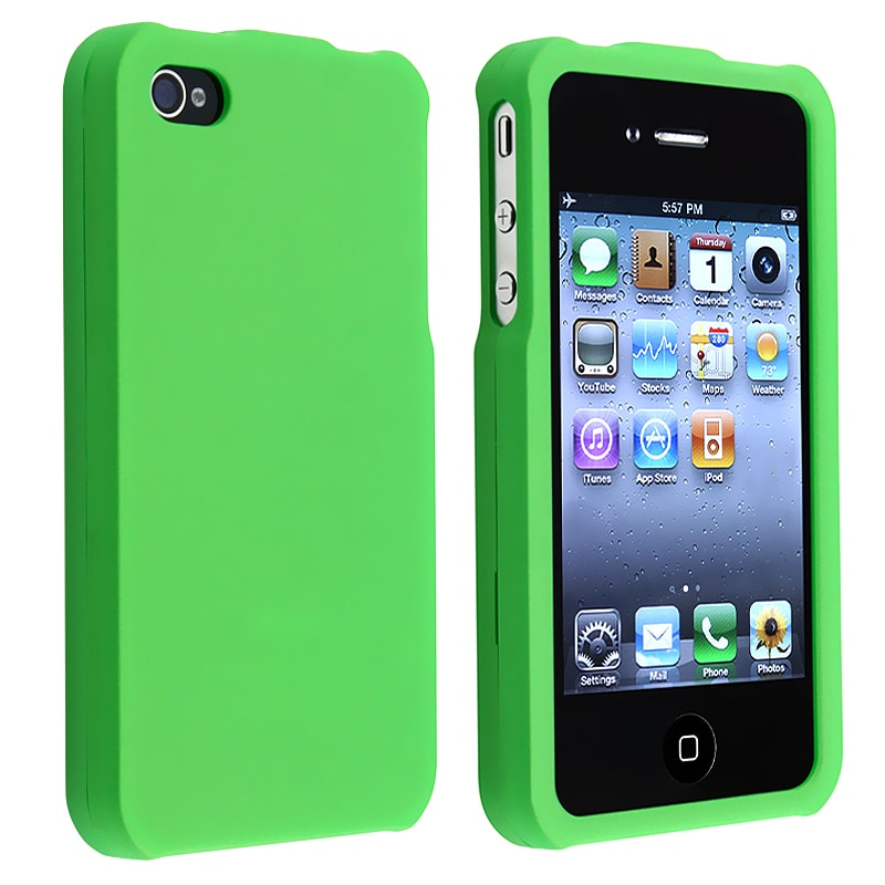 BasAcc Light Green Snap-on Rubber Coated Case for Apple iPhone 4/ 4S