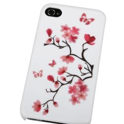 BasAcc White Snap-on Rubber Coated Case for Apple iPhone 4/ 4S