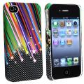BasAcc Rainbow Star Snap-on Rubber Coated Case for Apple iPhone 4/ 4S