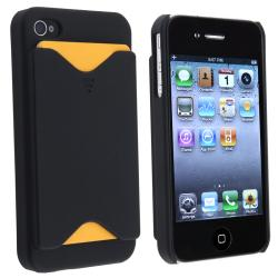 BasAcc Black Snap-on Case with Card Holder for Apple iPhone 4/ 4S