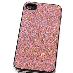 BasAcc Light Pink Bling Snap-on Case for Apple iPhone 4/ 4S