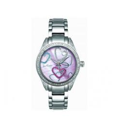 Joe Rodeo Women's Secret Heart Swiss Quartz Diamond Watch