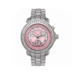 Joe Rodeo Women's Rio Pink Mother-of-Pearl Chronograph Diamond Watch