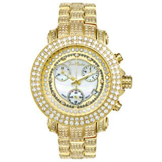 Joe Rodeo Women's Rio Yellow Mother-of-Pearl Diamond Watch