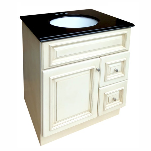 Tuscany 30x21-inch Bathroom Vanity with Black Granite Top