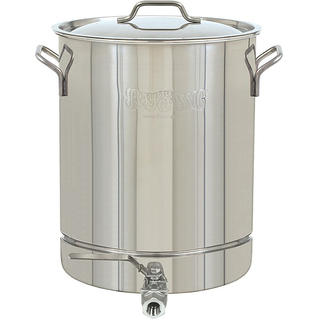 Bayou Classic Stainless Steel 10-Gallon Spigot Pot