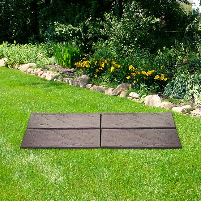 Brown Realistic Rock Style 4-piece Garden Path