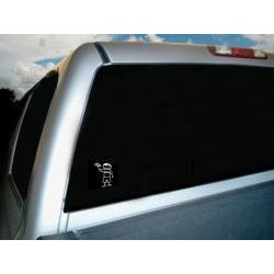 Vinyl Letter Decor Boy with Car 1 Stick Figure Car Decal
