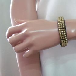 Handcrafted Mosaic Brass Beads Bracelet (Thailand)
