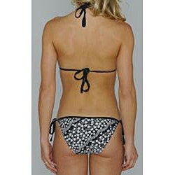 Island World Junior's Black & White Lace Bikini