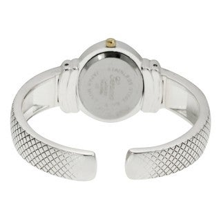 Geneva Platinum Women's Mother of Pearl Cuff Watch