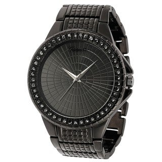 Geneva Platinum Rhinestone-accented Large Face Link Watch