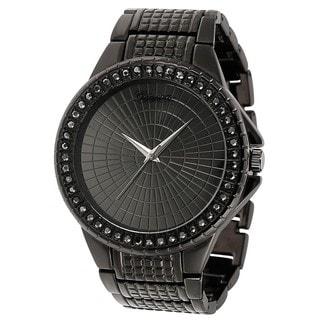 Geneva Platinum Rhinestone-accented Large Face Link Watch