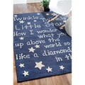 Handmade Luna Kids Lullaby and Stars Wool Area Rug (3'6