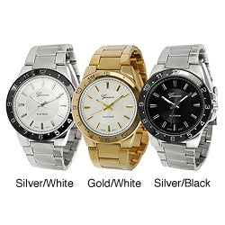 Geneva Platinum Men's Link Watch