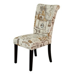 Monsoon Voyage Upholstered Brown Dining Chairs (Set of 2)