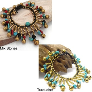 Tribal Dancer Material Jingle Bell Bracelet (Thailand)