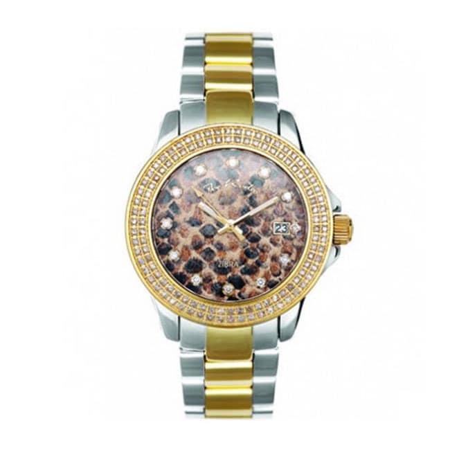 Joe Rodeo Women's Snake Zebra Dial Diamond Watch