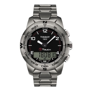 Tissot Men's 'T Touch II' Black Chronograph Dial Titanium Watch