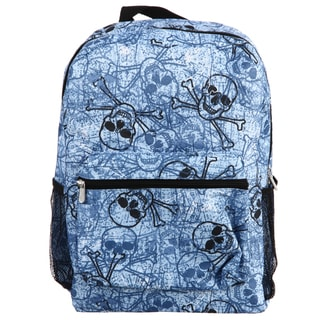 Blue Skulls All-over Print 16.5-inch Backpack