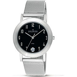 Skagen Men's Stainless Steel Mesh Band Date Watch